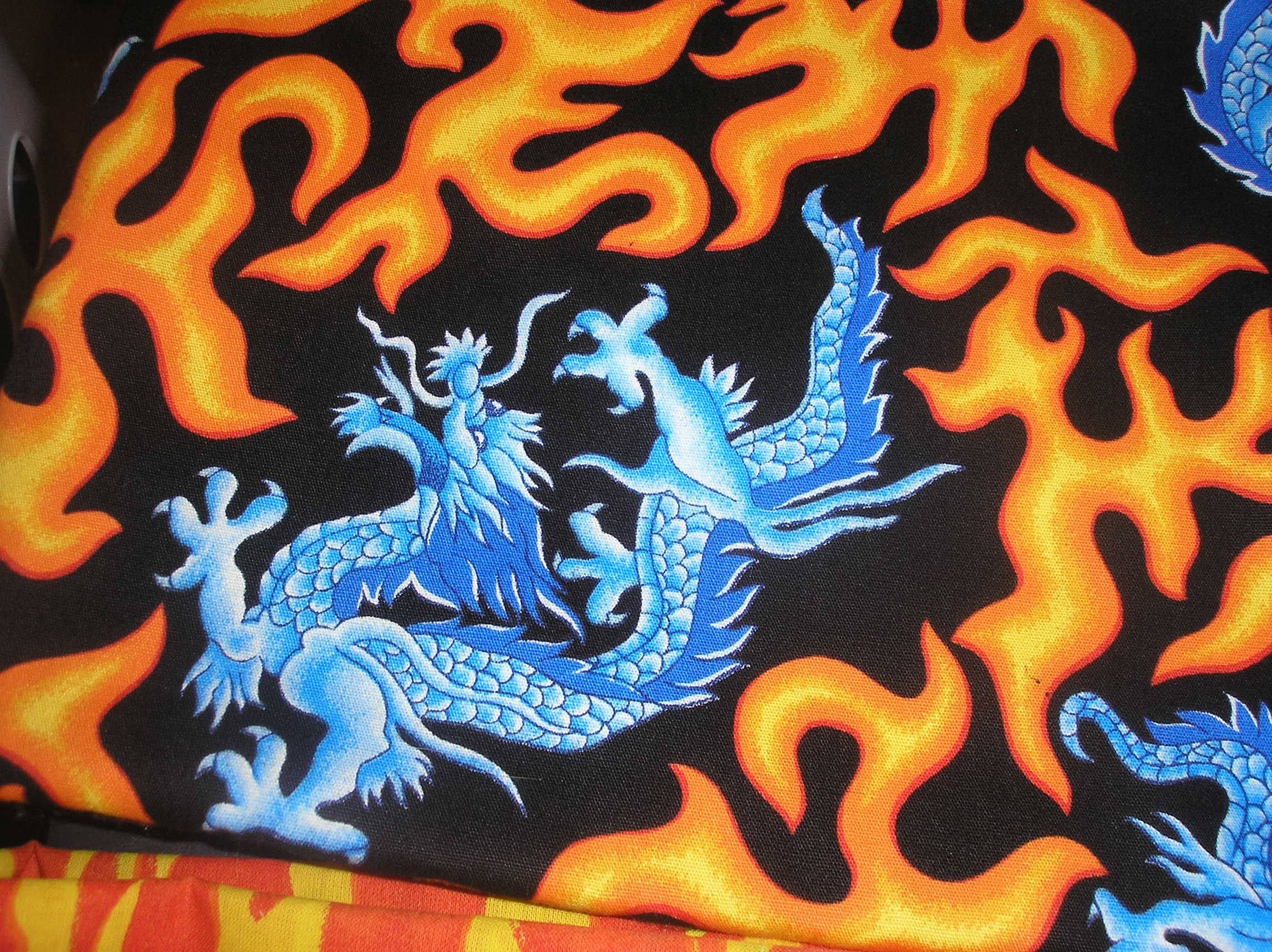 dragons with flames